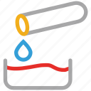 chemical, chemical drop, experiment, test tube icon