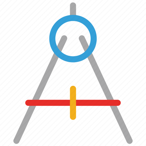 drawing compass, drawing tool, geometry compass, geometry tool icon