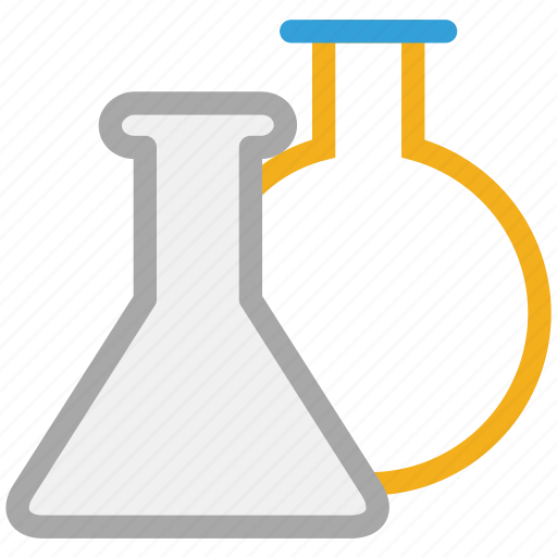 beakers, lab equipment, lab supplies, test tubes icon