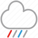 clouds, rain, rainy, weather icon