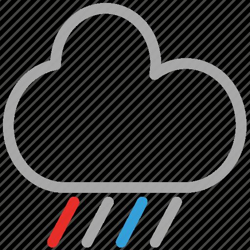 clouds, rain, rainy, weather icon