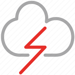 clouds, rain, thunder, weather icon