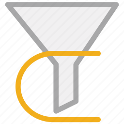 filter, funnel, sort, sorting icon