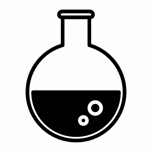 flasks, school, scientific, study icon