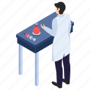 blood test, lab experiment, lab worker, laboratory test, scientific lab icon