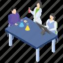 lab experiment, lab worker, laboratory test, medical laboratory team, scientific lab icon