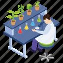 botany experiment, lab experiment, laboratory test, plant research, scientific lab