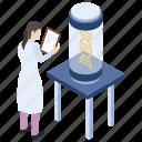 dna report, lab experiment, lab worker, laboratory test, scientific lab icon