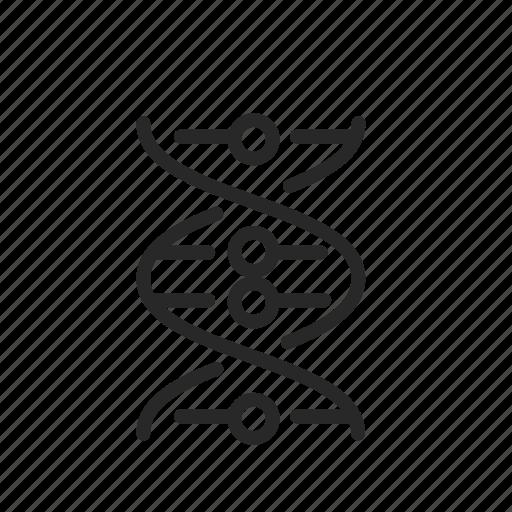 dna, laboratory, molecule, research, science, spiral icon
