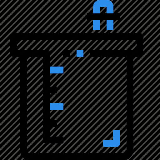 beaker, chemistry, laboratory, science, test icon