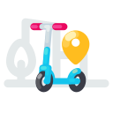 app, electric, kick, location, scooter
