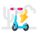charging, electric, kick, scooter icon