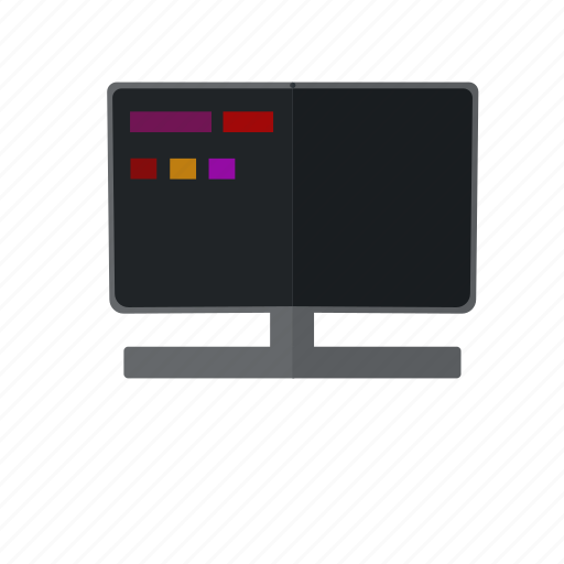 code, coding, display, html, javascript, screen icon