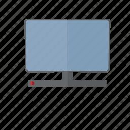 computer, desktop, hardware, off, screen, television, tv icon