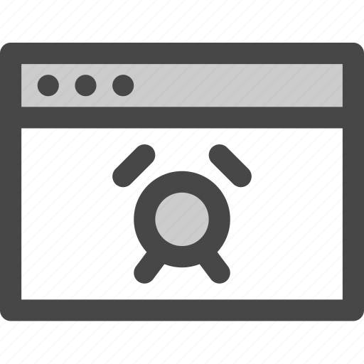 alarm, browser, computer, media, screen, timer, web icon