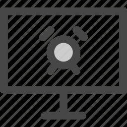 alarm, computer, media, screen, timer, tv icon