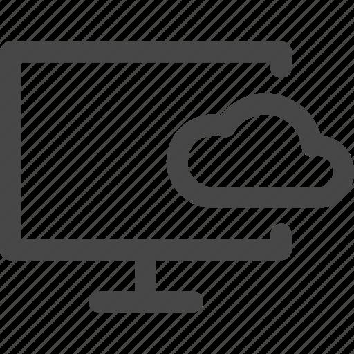 cloud, computer, media, screen, storage, tv icon