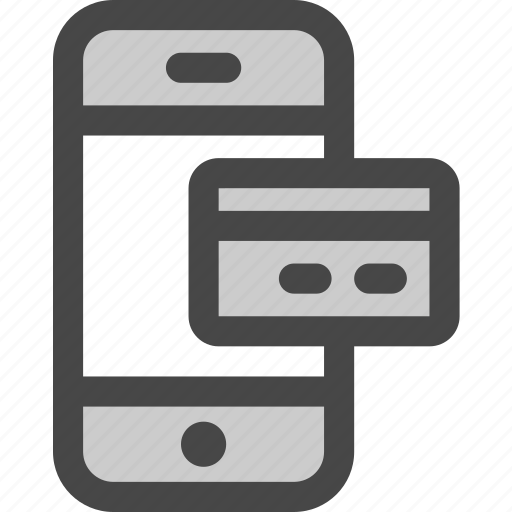 card, credit, device, payment, phone, screen icon