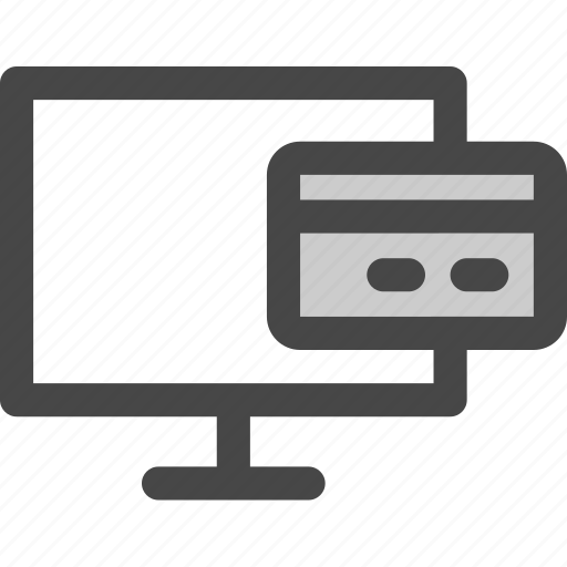 card, computer, credit, media, payment, screen, tv icon