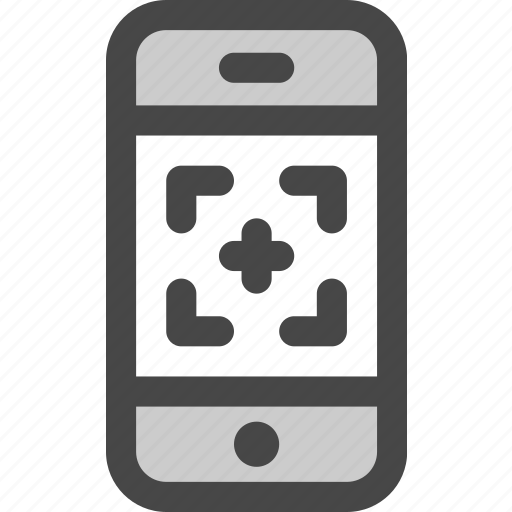 device, image, message, phone, qr, screen, tracking icon
