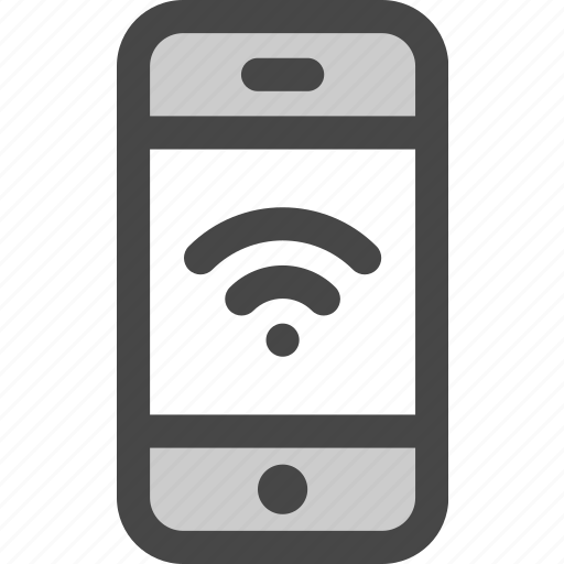 connection, device, internet, message, phone, screen, wifi icon