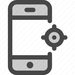device, location, map, phone, screen icon