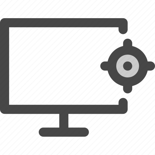 computer, location, map, media, screen, tv icon
