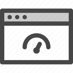 browser, computer, indicator, media, performance, screen, speed icon