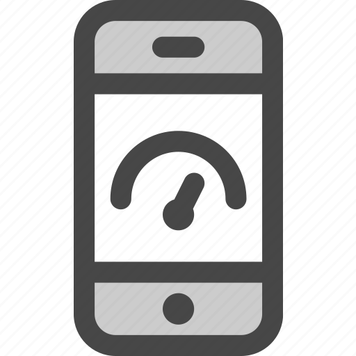device, indicator, message, performance, phone, screen, speed icon