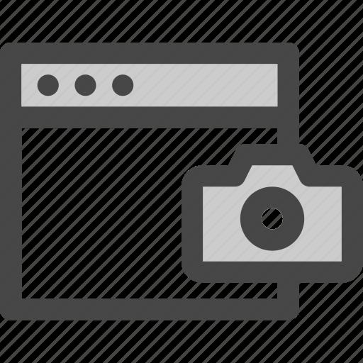 browser, camera, computer, image, media, photo, screen icon