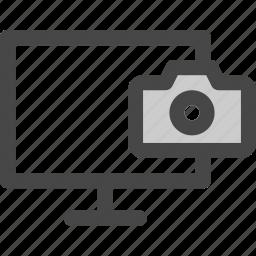 camera, computer, image, media, photo, screen, tv icon