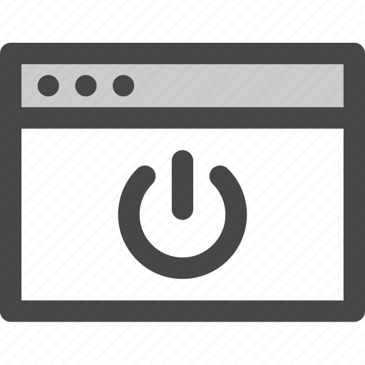 browser, computer, media, power, screen, standby, web icon