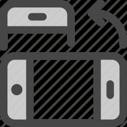 device, horizontal, mobile, orientation, phone, rotate icon