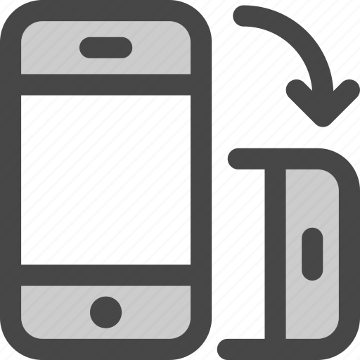 device, mobile, orientation, phone, rotate, vertical icon
