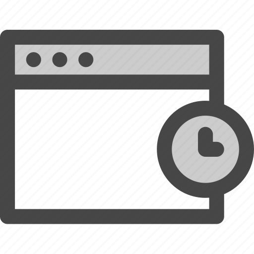 browser, computer, media, pending, screen, time, waiting icon
