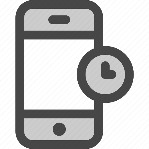 device, message, pending, phone, screen, time, waiting icon