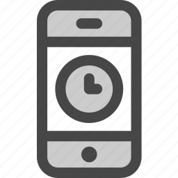 device, pending, phone, screen, time, waiting icon