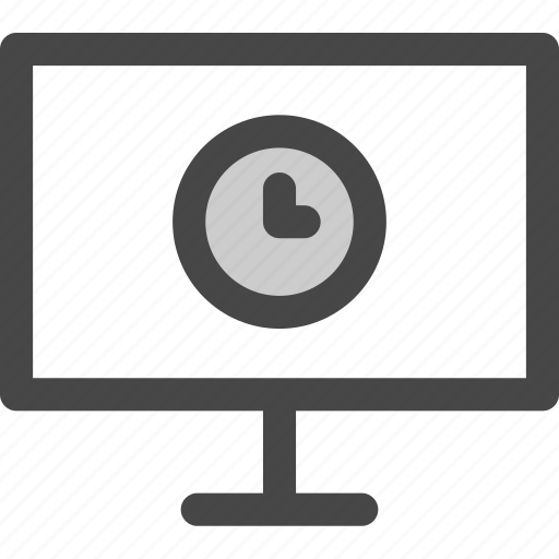 computer, media, screen, time, tv, waiting icon