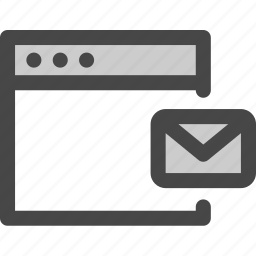browser, computer, email, envelope, message, online icon