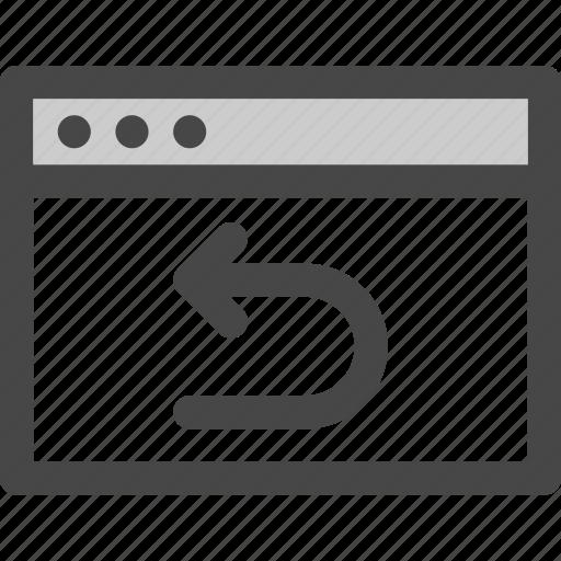 back, browser, computer, history, internet, repeat, undo icon