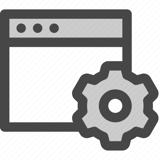 adjustments, browser, computer, gear, preferences, settings icon