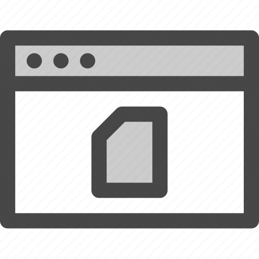 browser, computer, data, document, file, sim, storage icon