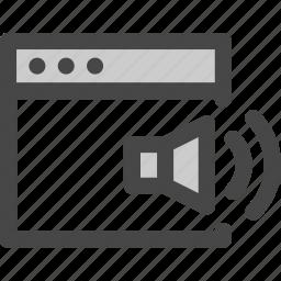 audio, browser, computer, internet, music, sound, speaker icon