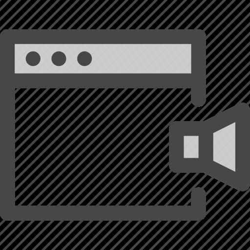 browser, computer, music, mute, sound, speaker icon