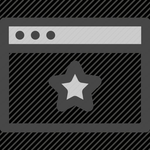browser, computer, favorite, internet, star, website icon