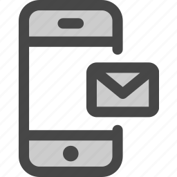 device, email, envelope, message, mobile, online, phone icon