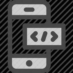code, html, internet, markup, mobile, phone, programming icon