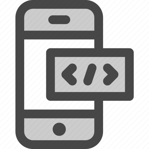 code, html, internet, markup, mobile, phone, programming icon