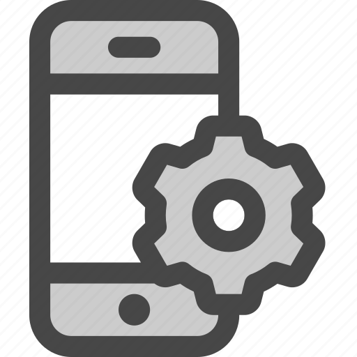 adjustments, gear, mobile, phone, preferences, settings icon