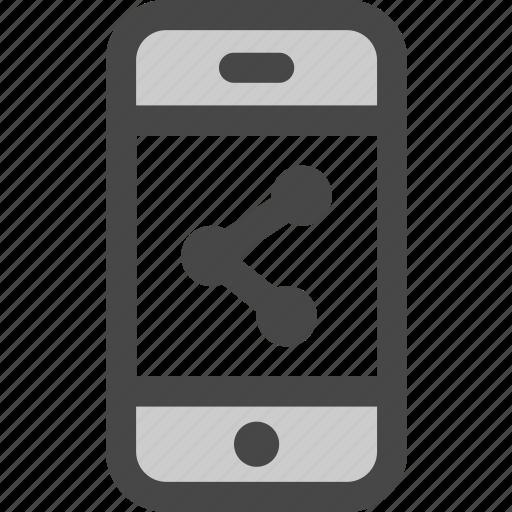 media, mobile, online, phone, share, social icon